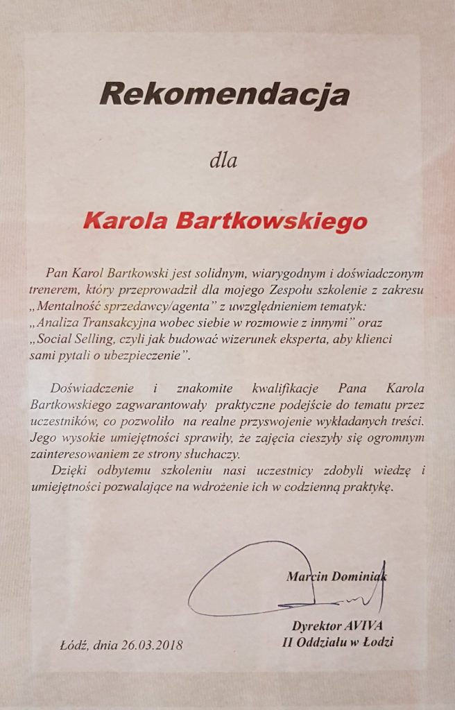 Rekomendacja Marcin Dominiak Aviva op2