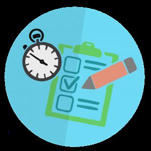 Grafika przedstawia zegarek, check listę i ołówek. Grafika pochodzi z bloga https://karolbartkowski.pl