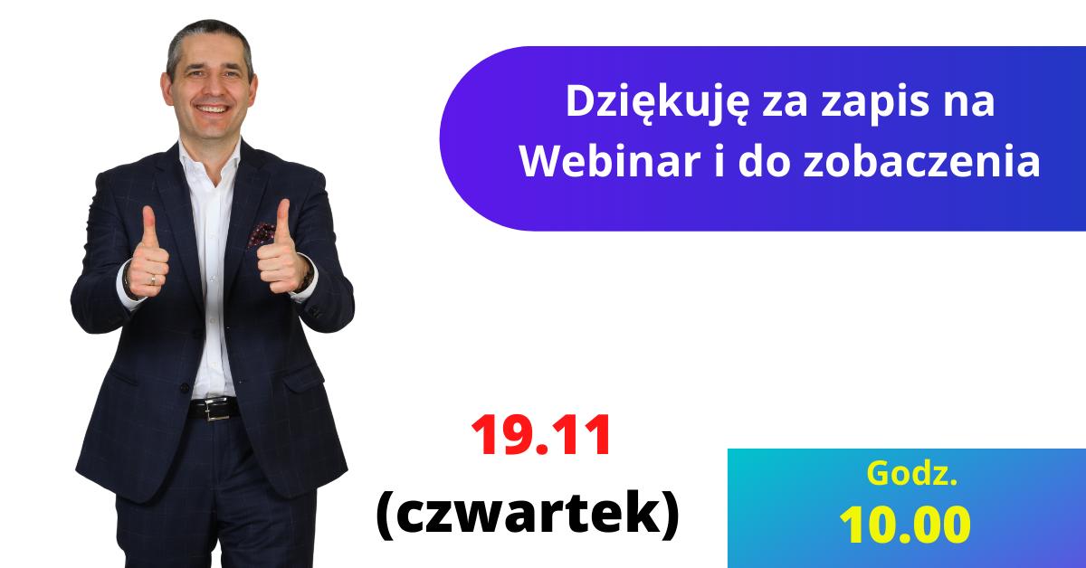 Karol Bartkowski webinar dziekuję