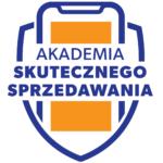 logo Akademia Skutecznego Sprzedawania jako tarcza, w której jest telefon i napis z nazwą